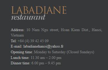 La Badiane Restaurant