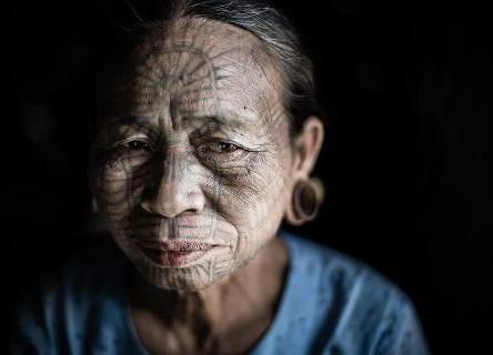 Chin woman in Mrauk U Arakan