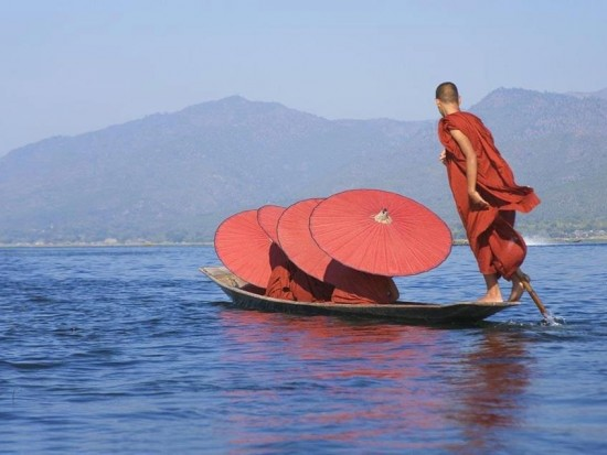 Inle Lake 2nd largest lake in Myanman Souther Shan State